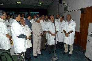 Chairman ISRO Addressing the Nation along with His Excellency the President of India Dr. A.P.J.Abdul Kalam.