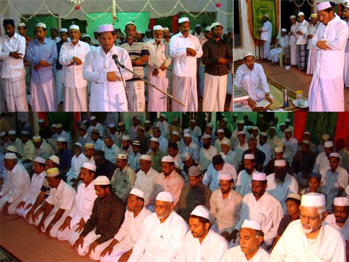Whole Quran recites in one Rakah (Taraveeh Prayer) at Arampally Masjid in Kayalpattinam on 12th September 2009, by Al Hafil SMB Mohammad Noohu.