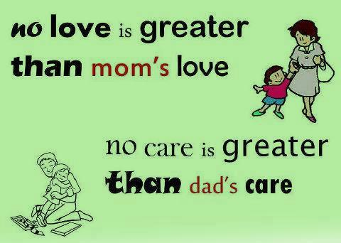 Parents are a special gift from God, so love and cherish them! Forever and Always In your heart.