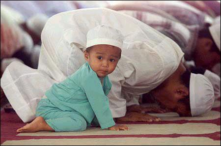 Prophet Muhammad (pbuh) ordered that children should be learnt how to pray.