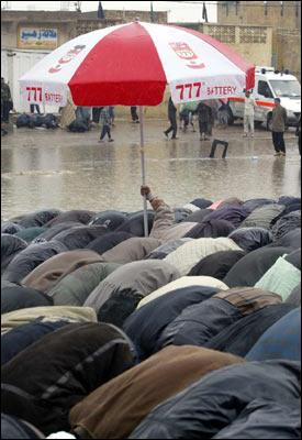 Rain or Shine muslims never forget to pray Allah