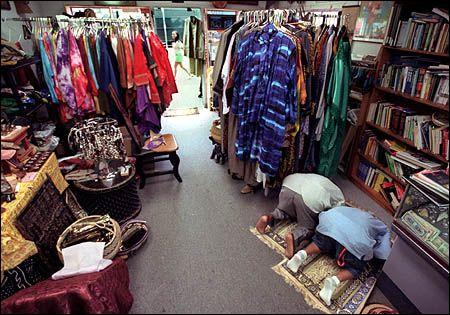 Praying in the shop