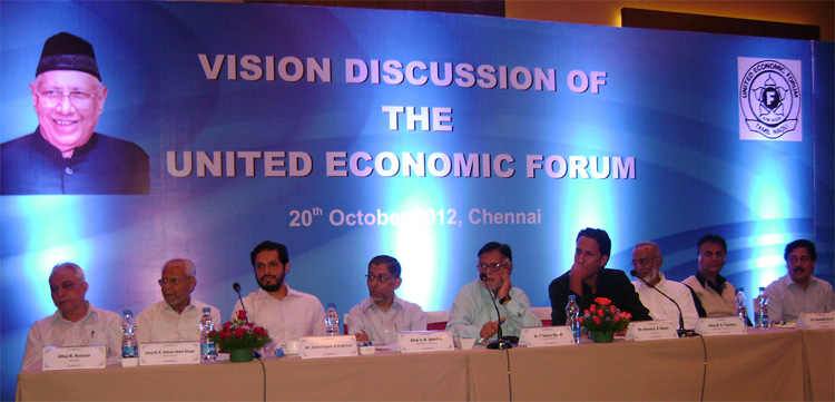 30th Anuual General Body Meeting of the United Economic Forum held on 20th October 2012 at Radisson Blu Hotel, Egmore, Chennai, Tamil Nadu.