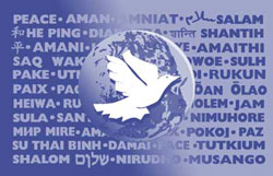 The World Peace Flag (WPF) is an international and universal symbol of our shared longing for peace. The word PEACE is fully or partially shown in 37 languages. www.thepeacecompany.com